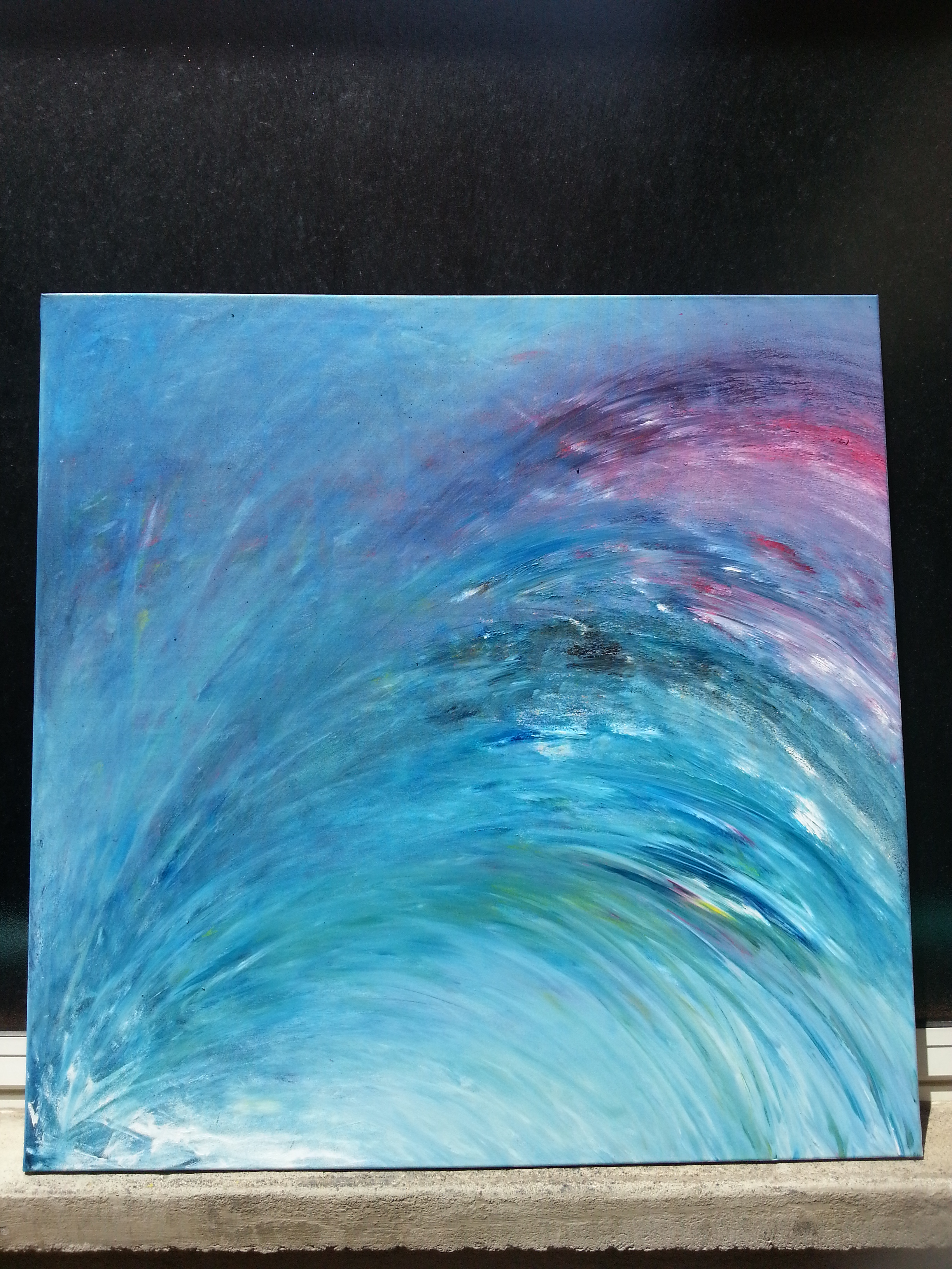 Peinture du mouvement présent - Yolande Bertrand - 14 juillet 2018 20h (1)